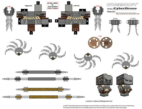 Predator Papercraft - cubee predator accessories by cyberdrone on deviantart