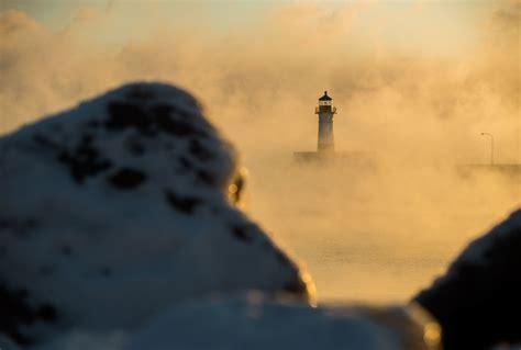 duluth sea smoke photos video frigid temps bring gorgeous sea smoke to