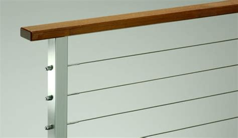 steel balusters direct shipping canada usa wide every day stainless steel cable railing rainier wood top from ags