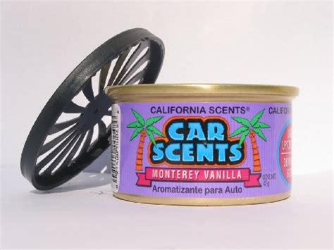 California Scents Montrerey Vanilla california scents spillproof organic air freshener monterey vanilla accessoiresauto xyz