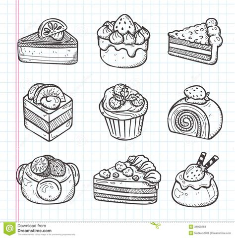 cake doodle free doodle cake icons stock vector illustration of drawing