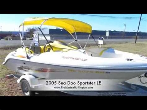 sea doo sportster le jet boat 2005 sea doo sportster le for sale youtube