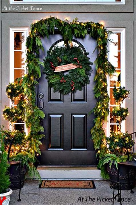 Christmas Front Door Ideas a christmas door decoration for holiday spirit