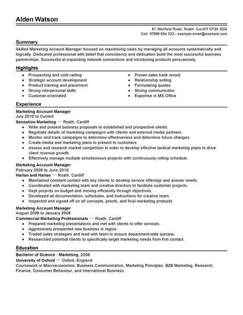 account manager resume template free templates resume
