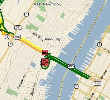 lincoln tunnel traffic report live delays approaching lincoln tunnel in weehawken due to