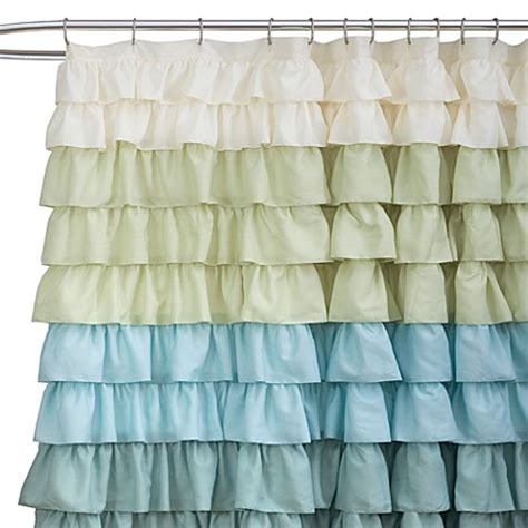 ruffled shower curtains for sale ruffle multi 72 inch x 72 inch shower curtain bed bath