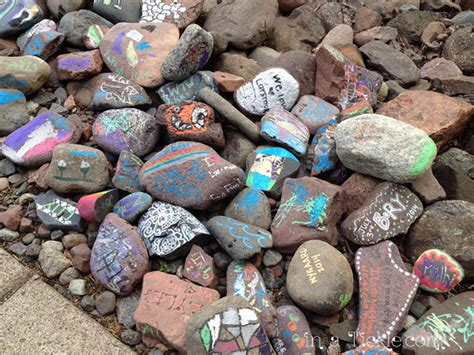 Painted Garden Rocks by Another Memory Time In A Tickle