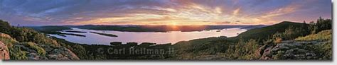 Pilot Knob Lake George by Pilot Knob Sunset Panorama Print Lake George Photos
