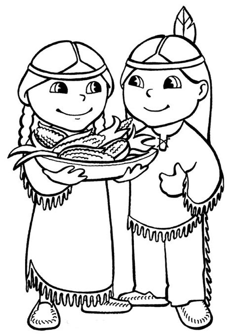 Preschool Indian Coloring Page | native american indian coloring pages