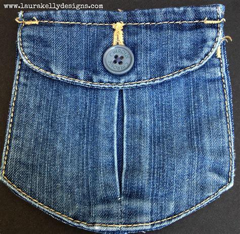 upcycled denim upcycled denim pocket purse