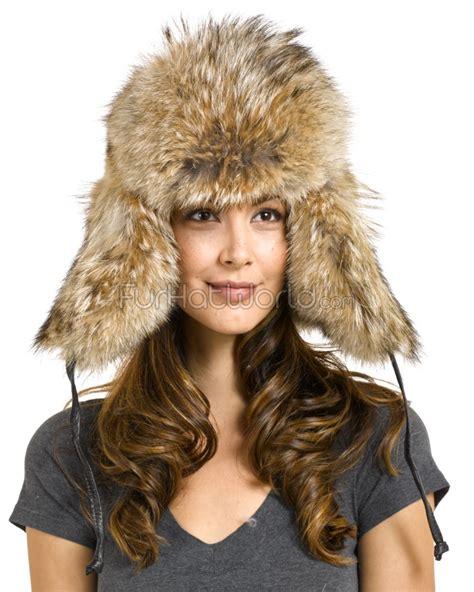 coyote fur russian hat furhatworld