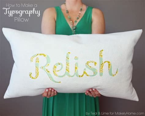 how to make an easy typography pillow makely school for