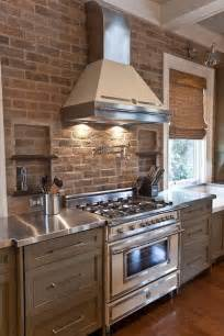 kitchen backsplash brick modern kitchen decor with brick walls 25 interior decorating ideas