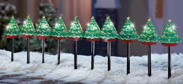 set of 10 electric outdoor christmas tree path light