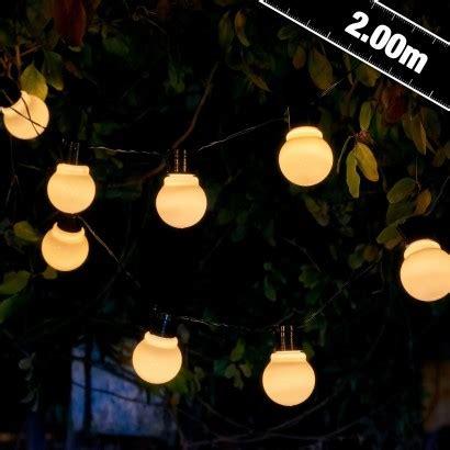 aurgalow white solar festoon garden lights