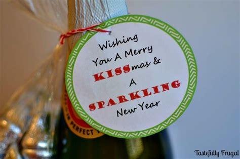 wishing   merry kissmas  sparkling  year  neighbor gift tastefully frugal