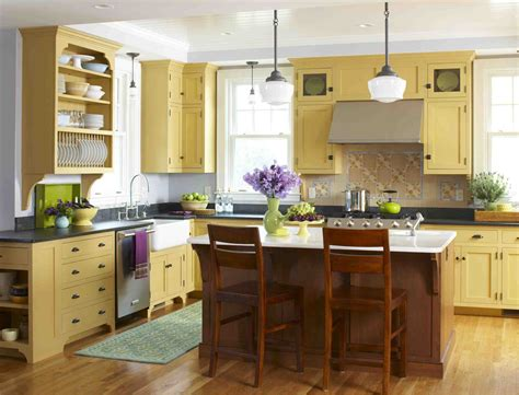 yellow cabinets kitchen style archive mellow yellow kitchen stacystyle s blog
