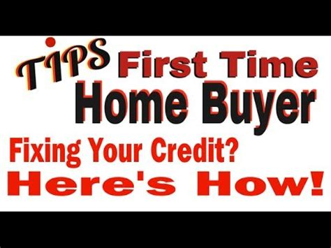 time home buyer tips maryland fixing your credit