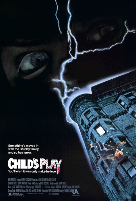 chucky movie child s play poster for child s play 1988 usa wrong side of the art