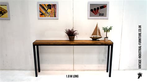 Long Narrow Coffee Table - vintage industrial console table