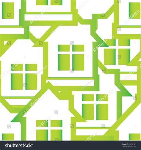 seamless pattern houses seamless pattern of houses stock vector illustration
