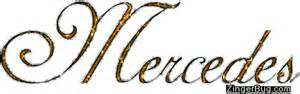 Mercedes Name Mercedes Golden Glitter Name Glitter Graphic Greeting