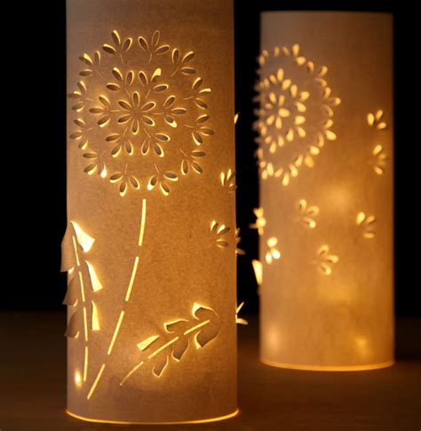 Make Your Own Paper Lanterns - how to make paper lanterns with whimsical designs