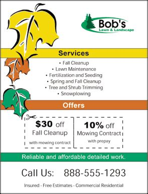 lawn care flyers templates lawn care flyer template free