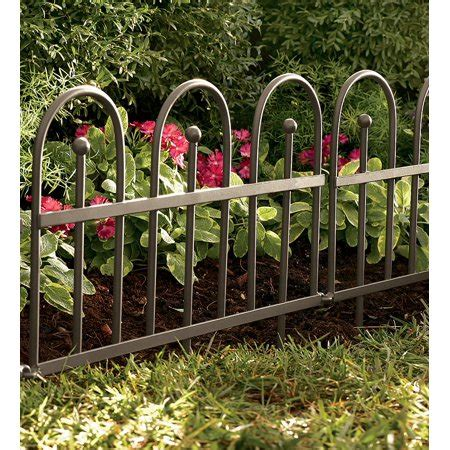 decorative fence edging flower beds wrought iron fence decorative edging walmart