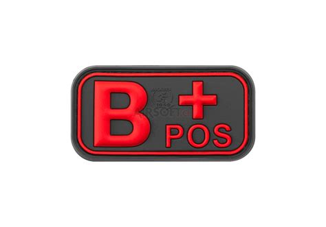 Rubber Patch Major Glock bloodtype rubber patch b pos blackmedic jtg patchs caoutchouc patchs marquage