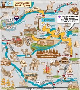 grand colorado map grand mesa scenic byway map colorado vacation directory