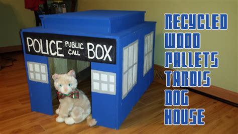 tardis dog house recycled wood pallets tardis dog house pallet inverters and material handling