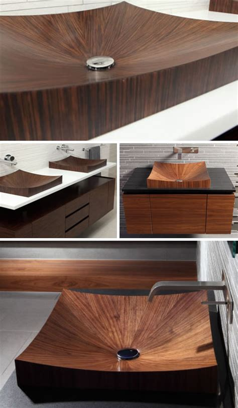 wood bathroom sink gorgeous grain wooden bathtubs really go with the flow