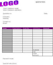 Bussiness Template by Business Quote Template Invoice Templates