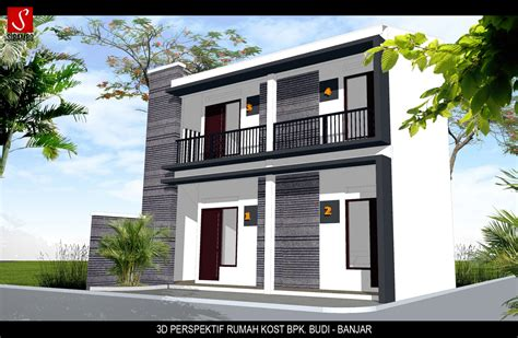 Desain Rumah Kost Minimalis 2 Lantai Dan Biaya