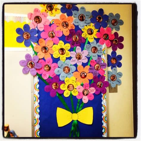 free printable flowers for bulletin boards first grade menagerie flower bouquet bulletin board