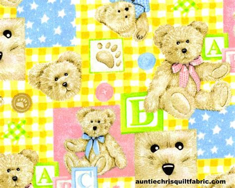 Baby Quilting Fabric by Cotton Quilt Fabric Boyds Bears Nursery Baby Pastels