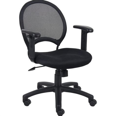 office chair with adjustable arms mesh back task office chair with adjustable arms b6216