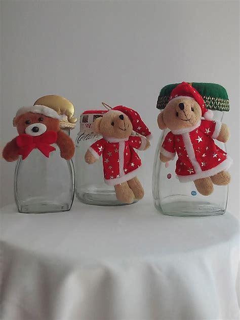 decoracion de vasos de vidrio para navidad frascos vidrio decorados navidad 15 000 en mercado libre