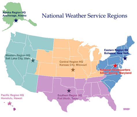 us weather bureau maps regional headquarters