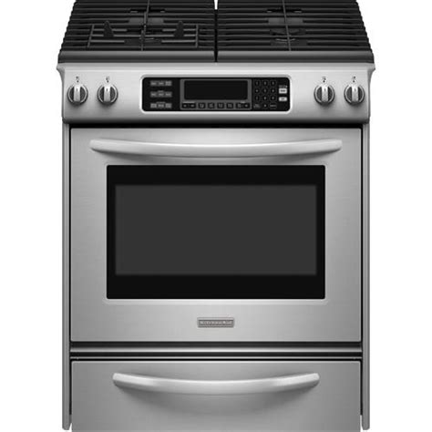 kitchenaid kgss907sss 30 quot slide in gas range 4 1 cuft