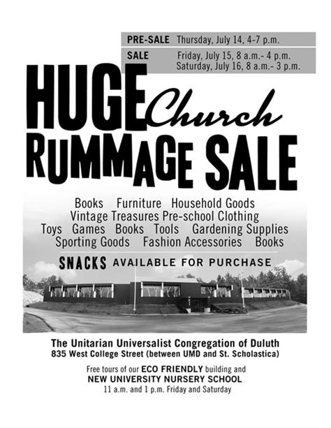 Duluth Garage Sales by Big Rummage Sale Duluth Day