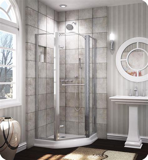 banyo shower doors fleurco ewn36 banyo 36 quot framed neo angle pivot shower door