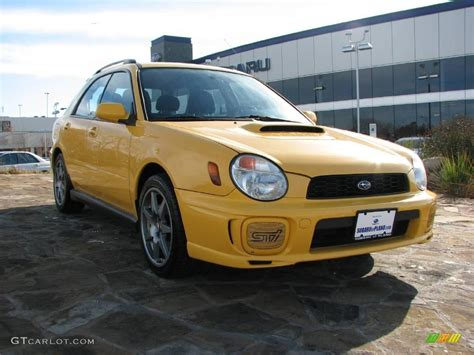 yellow subaru wagon 2003 sonic yellow subaru impreza wrx wagon 1280181