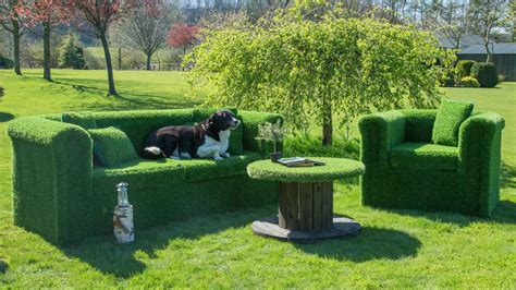 grass couch artificial grass sofa and outdoor furniture at evergreen