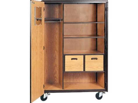 mobile wardrobe storage closet 2 shelves 2 drawers 66