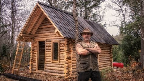 a canadian man built this off grid shipping container home off grid cabin from scratch and an ancient japanese wood