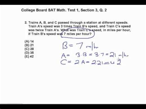 Practice Test 3 Section 1 Choice Questions by Sat Math From Collegeboard Test 1 Section 3 Questions