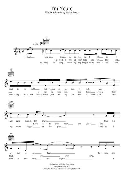ukulele tutorial you and i ukulele im yours ukulele chords and lyrics im yours im