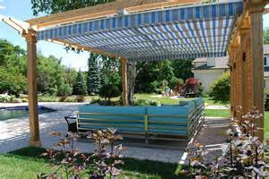 pergola sliding shade home decorating ideas